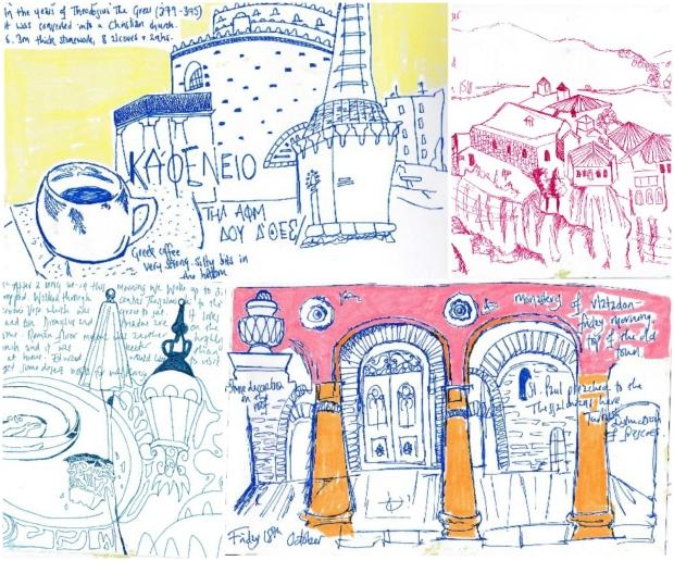 Greece sketchbooks
